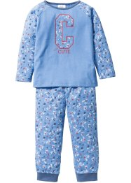 Pyjama (Ens. 2 pces.), bpc bonprix collection, bleu moyen