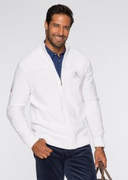 Gilet en maille Regular Fit, bpc selection, blanc