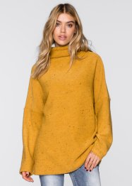 Pull avec col montant, oversized, RAINBOW, curry