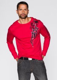 T-shirt manches longues Slim Fit, RAINBOW, rouge