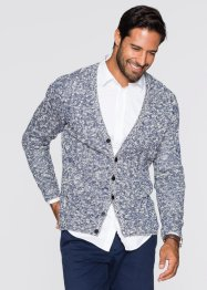 Gilet en maille Regular Fit, bpc bonprix collection, bleu nuit à motif