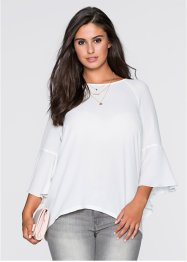 MUST HAVE : Blouse manches trompette, BODYFLIRT, blanc cassé