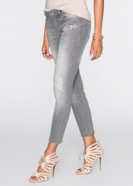 MUST HAVE : Jean brodé, BODYFLIRT, light gris denim