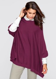 Pull poncho, bpc bonprix collection, prune