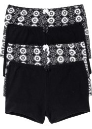 Lot de 4 maxi shorties, bpc selection, noir imprimé