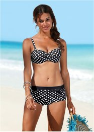Haut de bikini à armatures, bpc bonprix collection, noir/blanc à pois