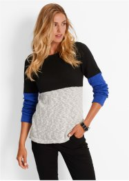 Pull, bpc bonprix collection, rouge/noir/fuchsia