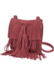 Sac à franges en cuir, bpc bonprix collection, bordeaux