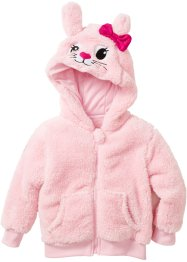 Gilet en synthétique imitation fourrure peluche, bpc bonprix collection, rose poudré