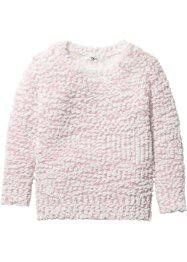 Pull en maille popcorn, bpc bonprix collection, rose dragée/blanc cassé