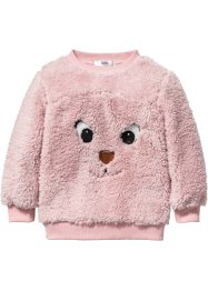 Pull synthétique imitation fourrure peluche, bpc bonprix collection, rose dragée