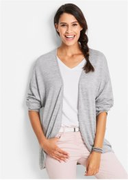 Gilet en jersey, bpc bonprix collection, gris clair chiné