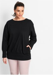 Sweat-shirt oversize, bpc bonprix collection, noir