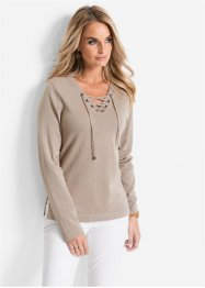 Pull, bpc selection, beige chiné