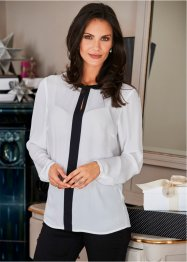 Blouse-tunique, bpc selection, blanc/noir
