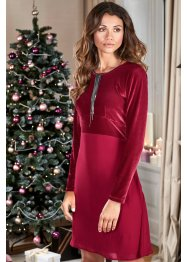Robe en velours, BODYFLIRT, bordeaux