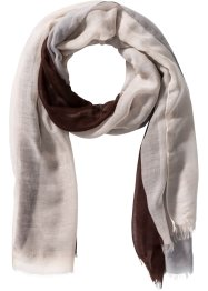 Écharpe homme, bpc bonprix collection, marron/gris/beige