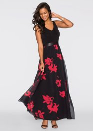 Robe, BODYFLIRT boutique, noir/rouge