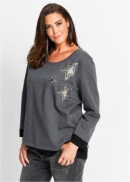 Sweat-shirt, bpc selection, taupe chiné