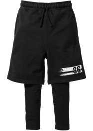 Short et legging (Ens. 2 pces.), bpc bonprix collection, noir