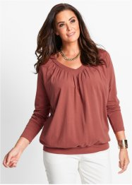 T-shirt manches longues, bpc selection, marron marsala