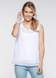Top-blouse, bpc bonprix collection, blanc