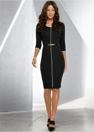 Robe, BODYFLIRT boutique, noir/blanc