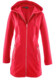 Gilet sweat long, bpc bonprix collection, rouge