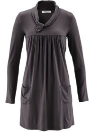 Robe, manches longues, bpc bonprix collection, anthracite chiné