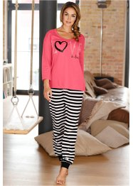 Pyjama, bpc bonprix collection, fuchsia clair rayé