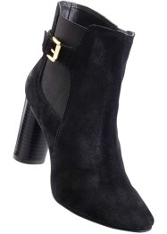 Bottines en cuir, BODYFLIRT, noir
