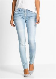 Jean extensible look used, BODYFLIRT, gris denim used