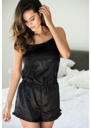 Combishort satin, bpc bonprix collection, noir