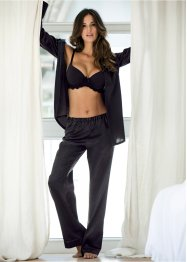 Pyjama en satin, bpc bonprix collection, noir