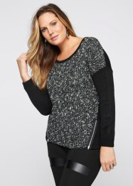 Pull, BODYFLIRT boutique, noir chiné