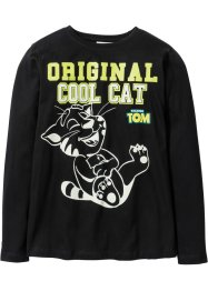 T-shirt à manches longues TALKING TOM phosphorescent, Talking Tom and Friends, noir