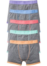Lot de 5 boxers colorés, bpc bonprix collection, gris chiné/pastel