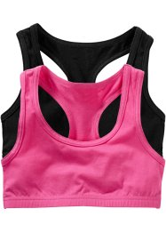 Lot de 2 brassières, bpc bonprix collection, fuchsia/noir