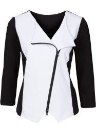 Gilet sweat-shirt, BODYFLIRT, noir/blanc