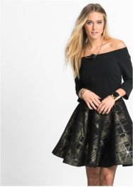Robe Carmen Marcell von Berlin for bonprix, Marcell von Berlin for bonprix, noir/gold