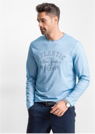 T-shirt manches longues Regular Fit, bpc bonprix collection, bleu clair