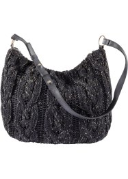 Sac en maille, bpc bonprix collection, noir