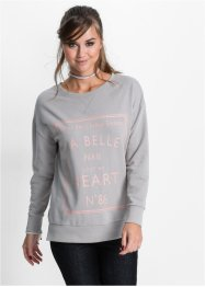 Sweat-shirt relaxed fit, RAINBOW, gris clair chiné/rose vintage imprimé
