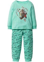Pyjama (Ens. 2 pces.), bpc bonprix collection, bleu menthol