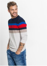 Pull Slim Fit, RAINBOW, rayé multicolore