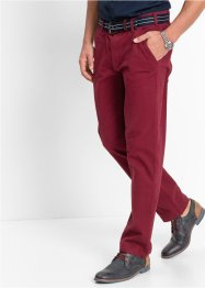 Pantalon chino extensible Slim Fit Straight, bpc bonprix collection, bordeaux