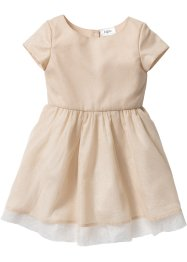 Robe à paillettes, bpc bonprix collection, beige sable/doré