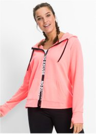 Veste sweat-shirt fonctionnelle, manches longues, bpc bonprix collection, saumon fluo