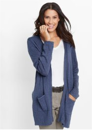 Gilet en maille manches longues, bpc bonprix collection, indigo