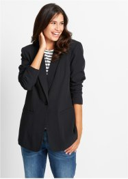 Blazer long ample, manches longues, bpc bonprix collection, noir